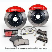 Stoptech 83-508005871 Rear Big Brake Kit 380mm X 32mm 2 Piece Slotted Rotors Red