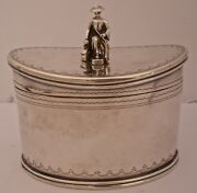 Fantastic American Chinoiserie Style Sterling Tea Caddy By Tuttle C. 1900
