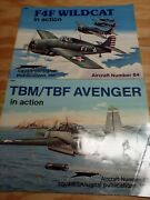 Squadron Signal In Action Tbm/tbf Avenger Plus F4f Wildcat 1082 And 1084 Lot