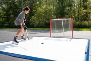 Skate Anytime - Deluxe Synthetic Hockey Ice Rink Featuring Puck Stop Edging