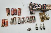 Lot Of 38 Vintage Spark Plugs - Rusted - Ac, Champion, Autolite Wizard Twin Fire