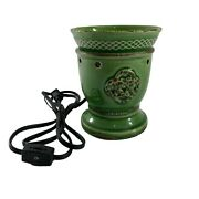 Scentsy Celtic Love Knot Wax Warmer Green Full Size Retired Base Dish No Box