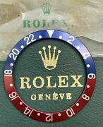 Genuine Rolex Gmt-master 1675 Pepsi Red Insert Backvintage Nice Colory-60-70s