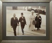 1921 Huge Signed Photograph King George V Queen Mary And The Lord Mayor Of Ports