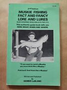 Rare Signed Copy Of Musky Fishing Fact And Fantasy Lore By Homer Leblanc