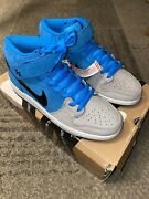 Nike Dunk Mid Pro Sb Beavis And Butthead Size 9 Blue Wolf Grey 314383-400