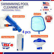 4pcs Above Ground Pool Cleaning And Maintenance Accessories Set Kit