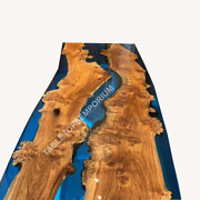 Dining Table In Wood With Epoxy Resin Epoxy Resin Table Center Table Top Decor