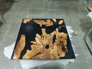 Acacia Tabletop Handmade Combined With A Black-coloured Epoxy Resin Table Tops