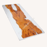 Abstract Wooden Resin Table Top Live Edge Slab For Dining Table Top Handmade Art