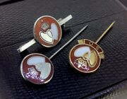 Three Sterling Silver Enamel Blood Donor Badges Inc Fattorini And Son 10.80g