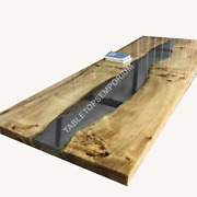 Acacia Wood Epoxy Coffee Table Dining Table Living Kitchen Office Table Decors