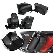 2x Pu Leather Motorcycle Saddle Bags For Harley Parts Acc Tool Removable Bag