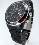 Fossil Ch2623 Unisex Chronograph Black Polycarbonate Resin And Stainless Steel