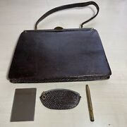 Vintage Clutch Purse Made In West Germany Patent Leather