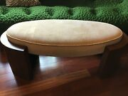 Deco Style Upholstered Ottoman Footstool Bench