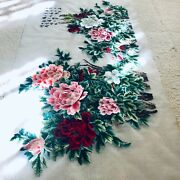 Double-sided 100 Auth. Chinese Hand Made Needlepoint Peonies Art Silk