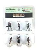 Characters Of Adventures Zombies Pre-painted Plastic Miniatures Set