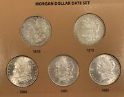 Awesome 32 Coin Complete 1878-1921 Morgan Silver Dollar Date/mint Set Hi Grade