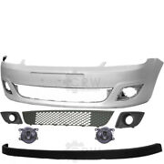 Set Bumper Front Primed Fog+accessories For Ford Fiesta 5 V Jh Jd Year 05-10