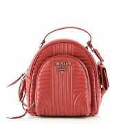 Prada Front Pocket Backpack Diagramme Quilted Leather Small