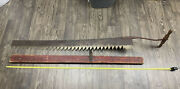 C.1912 Antique Gifford Ice Saw Five Foot 5and039 Blade W/ Wood Cover/sheath Xlg