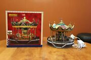 Lemax 14325 Sunshine Carousel Sights And Sounds Holiday Village Iob With Adapter