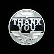 Vintage Thank You 1-oz .999 Silver Round In Cap Slb2028