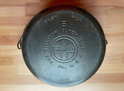 Griswold Tite-top Cast Iron Dutch Oven 8 1295 And Griswold Iron Mountain 8 Lid