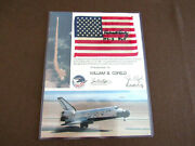 Richard Truly Sts-2 Plt Nasa Astronaut Signed Auto 81 Columbia Space Flown Flag