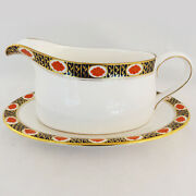 Royal Crown Derby Ambassador Gravy Boat And Stand New Never Used Made In England