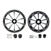 21 Front 18and039and039 Rear Wheel Rim W/disc Hub Fit For Harley Road Electra Glide 08-21