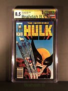 The Incredible Hulk 340 Cgc 8.5 Signature Series Free Expedited Shipping