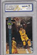 1992 Classic Shaquille O'neal Promo Card Rookie Gold Wcg 10 Gem Mint