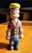 Popeye Cast Iron Collector Piggy Bank Advertisement Solid Metal Man Cave Gift Nr