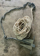 Marine Boat Ancho With 45ft Of Rope And 6ft Of Chain