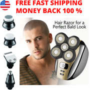 5-in-1 Rechargeable Electric Shaver And Freedom Grooming Kit For Bald Head Men
