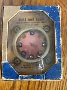 1930's A. C. Gilbert Antique Toy Ball And Gear And Cogs Game Puzzle Skill Game