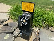 Vintage 3 Slot Rotary Pay Phone Telephone Bell System Western Electric Classic