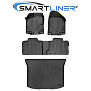 All Weather Floor Mats And Cargo Liner Set Black For 11-14 Edge / 11-15 Mkx