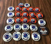 26 Vintage Chicago Bears Pins/buttons
