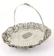 Antique American Sterling Silver Renaissance Cake Basket. J E Caldwell And Co Usa