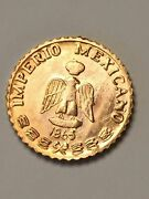 100 Miniature Gold Coins 1865 Maximilian Pesos Party Favors Birthday Great Gifts