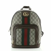 Ophidia Backpack Gg Coated Canvas Small