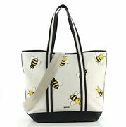 Christian Dior Kaws Bee Shopper Tote Printed Canvas With Leather Medium
