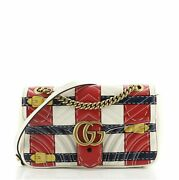 Gg Marmont Flap Bag Trompe Land039oeil Matelasse Leather Small