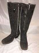 Twisted X Womenand039s Black Knee High Cowgirl Boots Sz 9b Excellent Condition