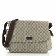 Diaper Bag Gg Coated Canvas