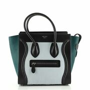 Celine Tricolor Luggage Bag Pony Hair And Leather Micro