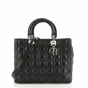 Christian Dior Lady Dior Bag Cannage Quilt Lambskin Large